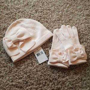 NWT Kate Spade Hat And Glove Set